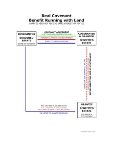 Real Covenant: Benefit Running with Land