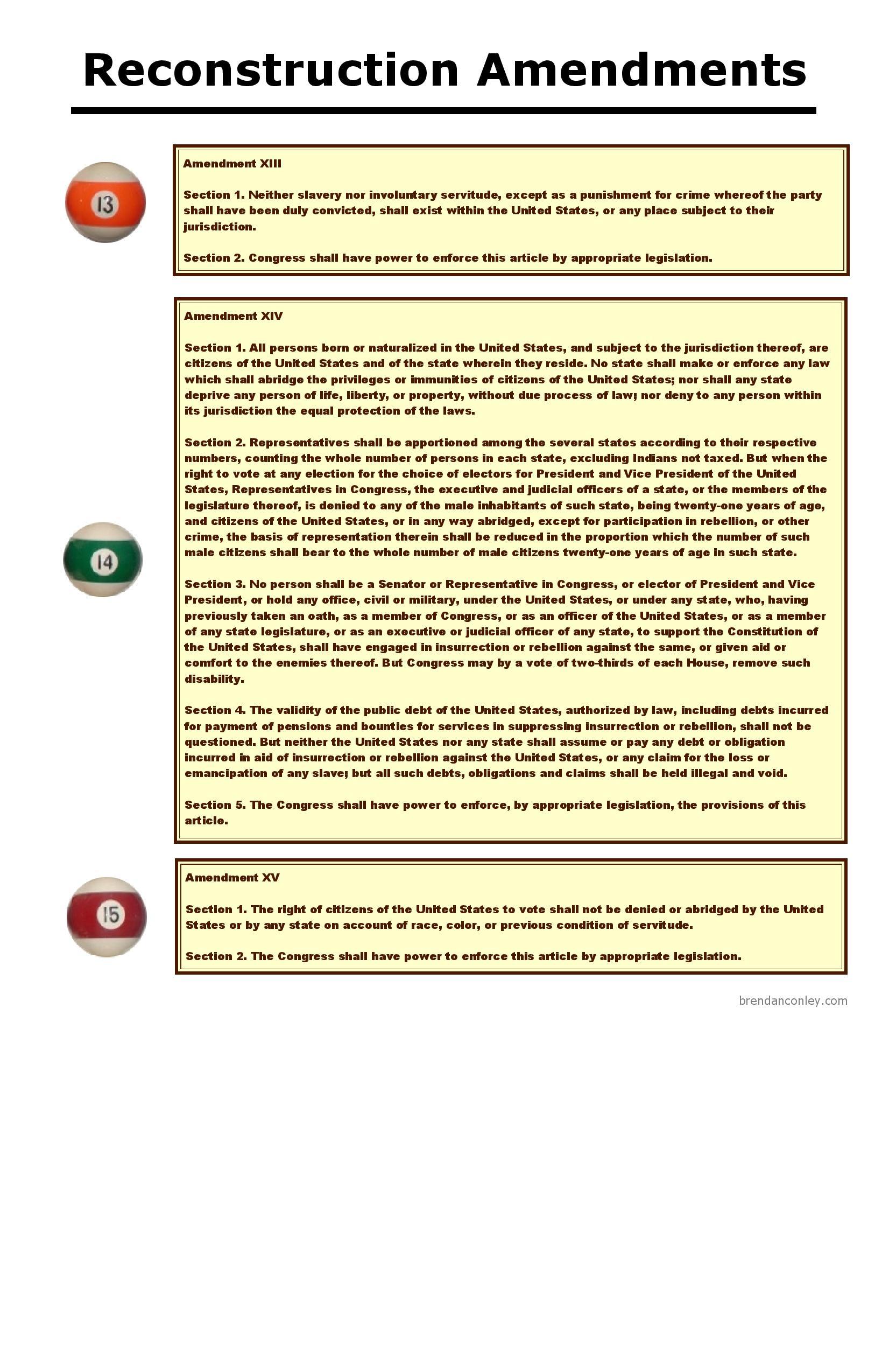 Bill of Rights and Reconstruction Amendments - Bar Exam Study ...